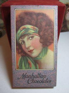Gorgeous 1920's art deco Manhattan Chocolates box by puffadonna