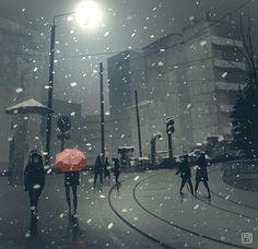 Winter is coming, Peter Bartels on ArtStation at https://www.artstation.com/artwork/4a9YW