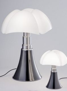 Pipistrello Titanium finish. New color, the same charme for Gae Aulenti's lamp @martinelliluce