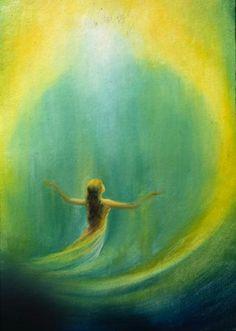 Painting by Priti Das Gupta Spiritual Paintings Painting Inspiration, Art Inspo, Spiritual Paintings, Prophetic Art, Spirited Art, Biblical Art, Visionary Art, Angel Art, Sacred Art