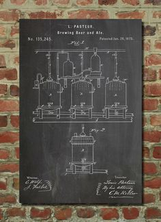Brewing Beer & Ale 1873 Wall Art Poster