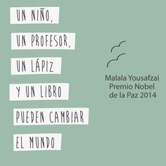 El valor y resultado del aprendizaje y el conocimiento. The image says : A child, a teacher, a pencil and a book can change the world........   The value and result of learning and knowledge.