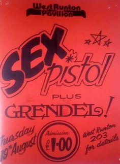 Sex Pistol poster, West Runton Pavillion, Norfolk, 1976 Gabba Gabba, Pistols, Norfolk, Punk Rock, Poster, Guns, Billboard, Hand Guns