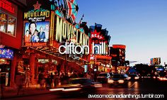 Clifton Hill... *starts dying of laughter* Good times, good times.... Universal class Toronto trip 2013...