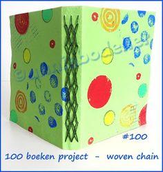 centipede: 100 books project, woven chain