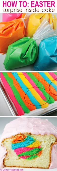 How to make an Easter Surprise Inside Cake. It's easier than you think! #EasterTreat