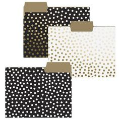 Gold Dots File Folders. New for 2016! By Graphique de France. $11.95.