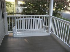 painted porch with natural flooring... use flat black instead of white though.