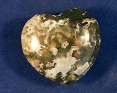 Moss Agate Heart by infinitycrystals on Etsy, $10.00