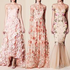 1 2 or 3?? Marchesa Notte SS2017 🌸🌸💫🌟✨