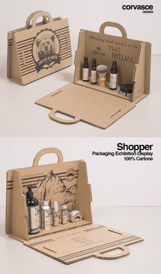 Shopper - exhibition display - OandB Trade displayresolution This shopper is .Shopper - exhibition display - OandB Trade displayresolution This shopper is perfect to surprise your customers. You can customize it with your print or Cool Packaging, Food Packaging Design, Cosmetic Packaging, Packaging Design Inspiration, Brand Packaging, Gift Packaging, Packaging Ideas, Paper Packaging, Product Packaging