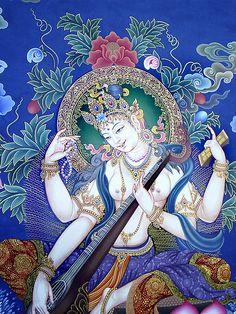 Exquisite image of Goddess Saraswathi