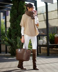 Blanco + Camel + Neverfull