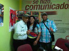 Gira de medios en Ciudad Bolivar compartiendo con Cheo Silva y Onette Gonzalez