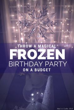 Frozen Birthday Party Decorations from the Dollar Store - Mad in Crafts Frozen Themed Birthday Party, 4th Birthday Parties, Birthday Fun, Birthday Party Decorations, Birthday Ideas, Frozen Party Decorations, Birthday Activities, Mermaid Birthday, Princess Birthday