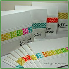Flower Shoppe Cards: Washi Tape Note Card Set