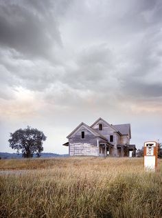 Wow. Abandoned farm house (with their own gas pump) in Maine. How cool is this photo!