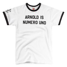Arnold Is Numero Uno Pumping Iron T-Shirt. Haven't missed The Arnold Classic in years... Except this year :(