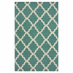 Hand-hooked wool rug with a trellis motif.      Product: RugConstruction Material: WoolColor: Spa blueFeatures: Handmade Note: Please be aware that actual colors may vary from those shown on your screen. Accent rugs may also not show the entire pattern that the corresponding area rugs have.