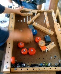 Homemade Pinball - I love this post at Teacher Tom where they created a homemade pinball machine from an old building toy. This is a great project for kids and dads to work on together since there's enough information and pictures for you to create something similar on your own.