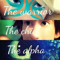 the warrior the chief the alpha < Astrid, Hiccup, and Toothless. :)