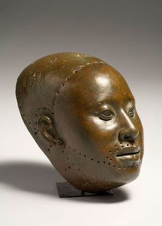Obalufon Ife head (ca. 15th century CE) -- SW of Nigeria