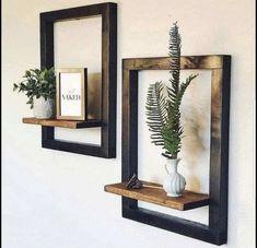 Modern Floating Shelves, Floating Shelf Decor, Modern Shelving, Diy Furniture Redo, Furniture Sale, Furniture Ideas, Wooden Furniture, Coaster Furniture, Furniture Design