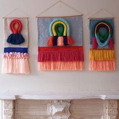 Weaving wall hanging tapestry by Maryanne Moodie www.maryannemoodie.com                                                                                                                                                      More