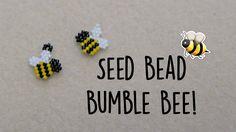 Seed Bead Bumble Bee Brick Stitch // Bead Weaving // ¦ The Corner of Craft