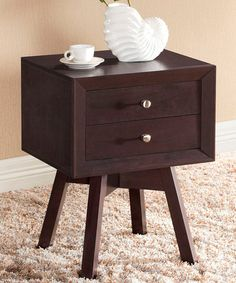 Take a look at this Warwick Brown Modern Accent Table/Nightstand by Baxton Studio on #zulily today!