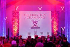 Video, Projection Mapping, Lighting, & Tent Decor by The AV Company (University of Virginia Event - Charlottesville VA)