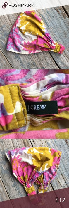 J. Crew Head Scarf EUC. Printed fabric head scarf with elastic. Great to hold hair back in a cute and fashionable way. J. Crew Accessories Hair Accessories
