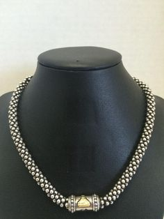 Lagos Caviar Collection: Sterling And 14kt Necklace. Retailed For $900,  $350 At Closet