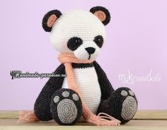 Looking for a cute panda bear pattern to try? Try any of these adorable Crochet Panda Patterns. There is a hat pattern, as well as, tiny and larger versions. Crochet Panda, Crochet Amigurumi, Crochet Bear, Amigurumi Doll, Crochet Animals, Free Crochet, Unique Crochet, Crochet Toys Patterns, Amigurumi Patterns