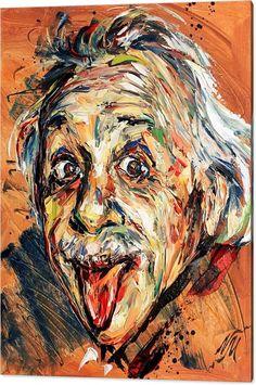 Portrait Acrylic Print featuring the painting Albert Einstein by Natasha Mylius Portrait Acrylic, Abstract Portrait, Oil Portrait, Abstract Face Art, Graffiti, Deer Art, E Mc2, Arte Pop, Disney Drawings