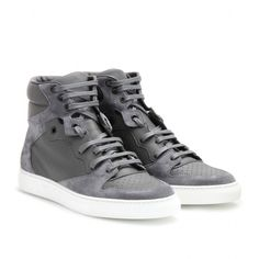 mytheresa.com -  LEATHER AND SUEDE HIGH-TOP SNEAKERS - Luxury Fashion for Women / Designer clothing, shoes, bags