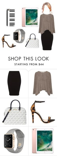 """what ya gonna do"" by skirtsandshirts ❤ liked on Polyvore featuring Michael Kors, Schutz and Casetify"