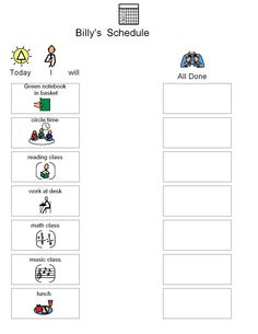 Hygiene Visuals: Schedules and Visual Instructions for
