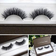 1 Pair 100% Handmade Real 3D Strip Mink Fur Long False Eyelash Thick Fake Faux Eyelashes Makeup -- BuyinCoins.com