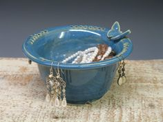Earring/Jewelry dish Holder / Hand Made Ceramic by Heidishoppe, $28.00