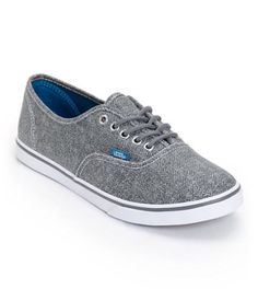 Vans Girls Authentic Lo Pro Castlerock Grey HB Print Shoe i love they gray  bc it goes pretty much with everything