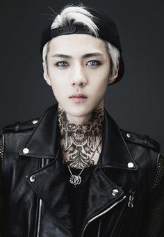 I am not mad at this. Kai Exo, Baekhyun Chanyeol, Bts And Exo, Got7, Kpop Tattoos, Ulzzang, Sehun Hot, Punk Edits, Wattpad