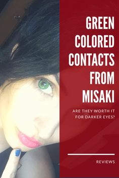 We all want to change our looks and try something different, I for one am all about changing my eye color! I've got tons of contact lens colors but I have never really tried green…