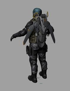 #gear #mecha #chara #jetpack #design #realist #military