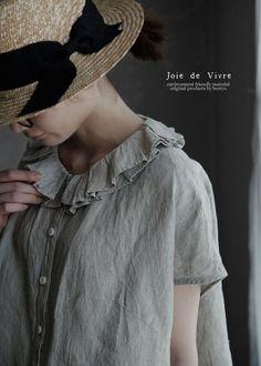 【楽天市場】【送料無料】Joie de Vivreイタリアリネンシャンブレーランダムフリルブラウス:BerryStyleベリースタイル
