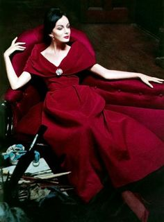 Model in Raoul Couture gown - 1960 - Vogue - Photo by Hemut Newton