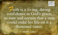 Luther quote Reformation Day, Protestant Reformation, Scripture Quotes, Bible Verses, Scriptures, Martin Luther Quotes, Calming Songs, Reformed Theology, Keep The Faith