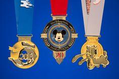 2013 Walt Disney World Goofy Race and a Half Challenge Finisher Medals: Donald Duck Half Marathon, Mickey Mouse Marathon, & Goofy Challenge