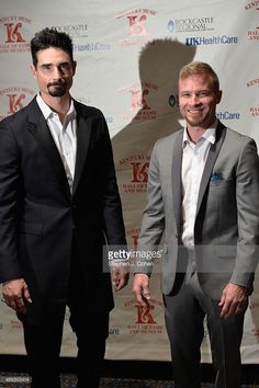 Kevin Richardson and Brian Littrell of the Backstreet Boys attends the 2015 Kentucky Music Hall Of Fame Induction Ceremony at Lexington Center Bluegrass Ballroom on April 10, 2015 in Lexington, Kentucky.