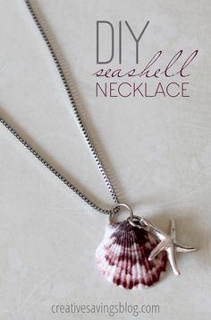 Diy Jewelry Seashell Necklace - Want to learn how you can turn your shells into beautiful seashell jewelry such as necklaces, pendants and earrings? Here are 9 DIY seashell making guides Seashell Jewelry, Seashell Necklace, Beach Jewelry, Diy Necklace, Necklace Ideas, Necklace Tutorial, Collar Necklace, Crystal Jewelry, Mermaid Necklace